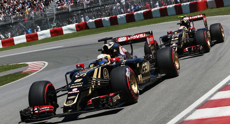 Maldonado & Grosjean - Lotus - Formel 1 - GP Kanada - Montreal - 6. Juni 2015