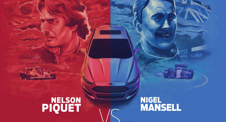 Mansell vs Piquet Teaser Ford 2013