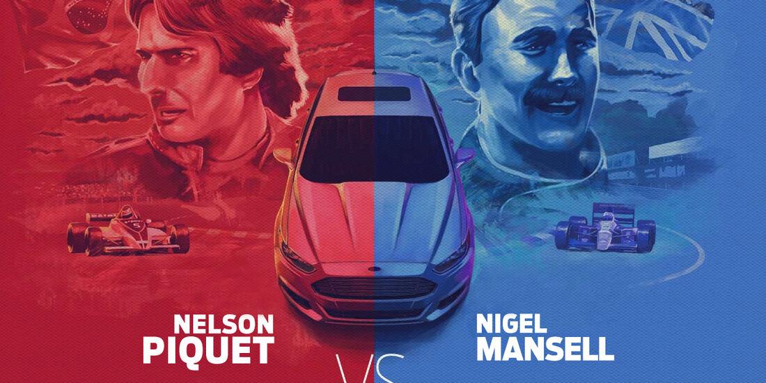 Mansell vs Piquet Teaser Ford 2013