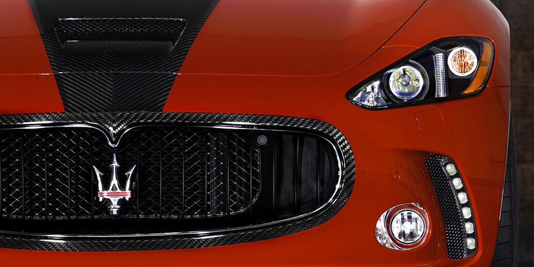 Mansory Maserati GranTurismo, Scheinwerfer, LED-Tagfahrlicht, Kühlergrill