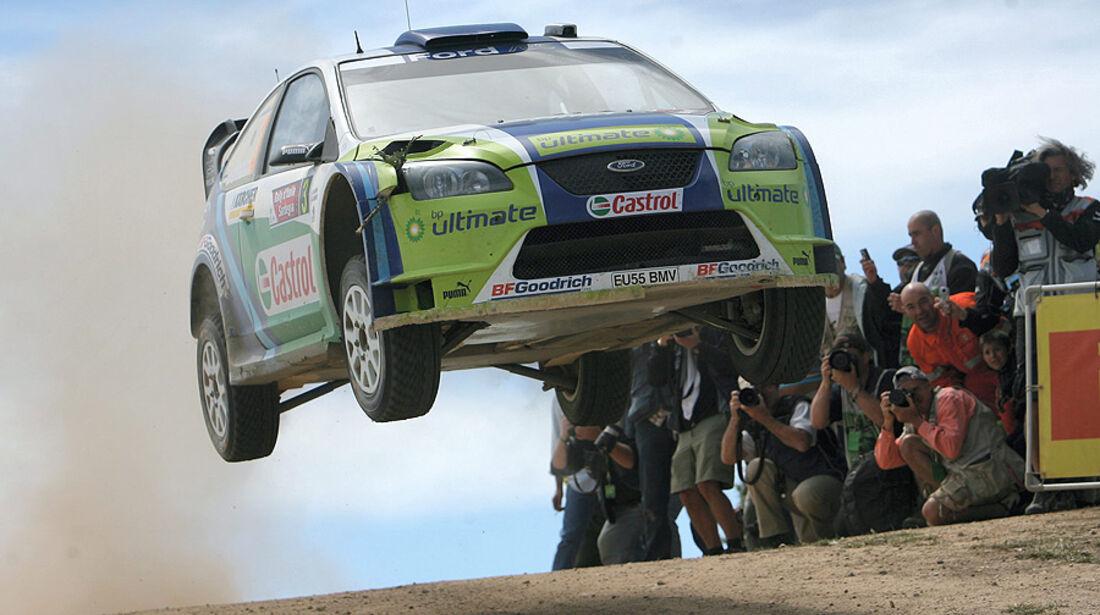 Marcus Grönholm, Rallye Sardinien 2006, Rallye-Sprünge