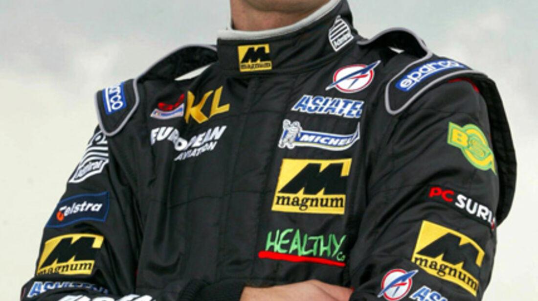 Mark Webber 2002 Porträt Minardi