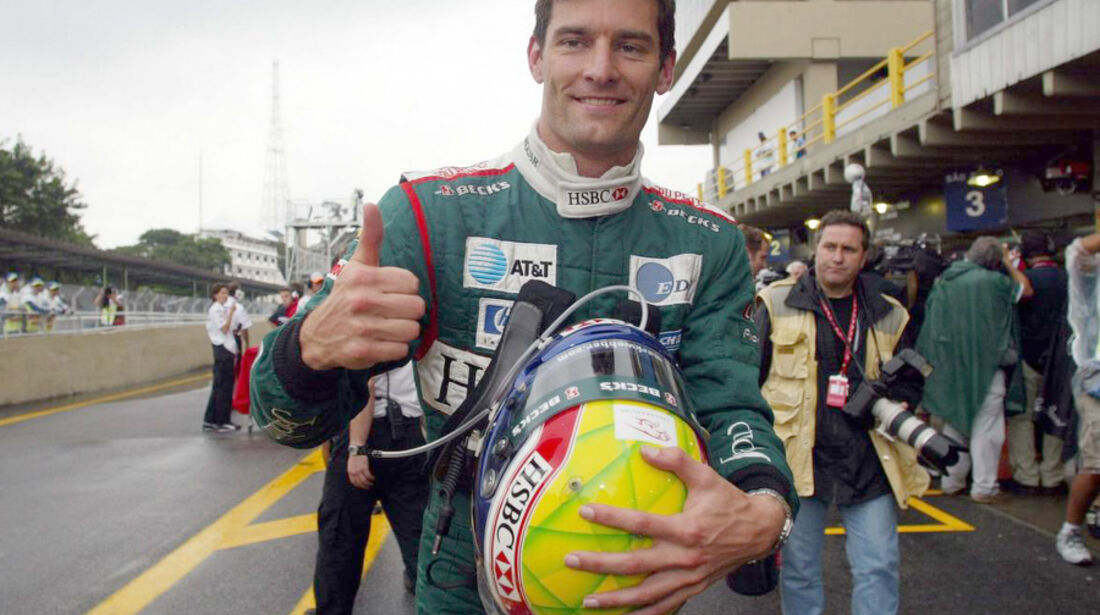 Mark Webber 2003 Jaguar