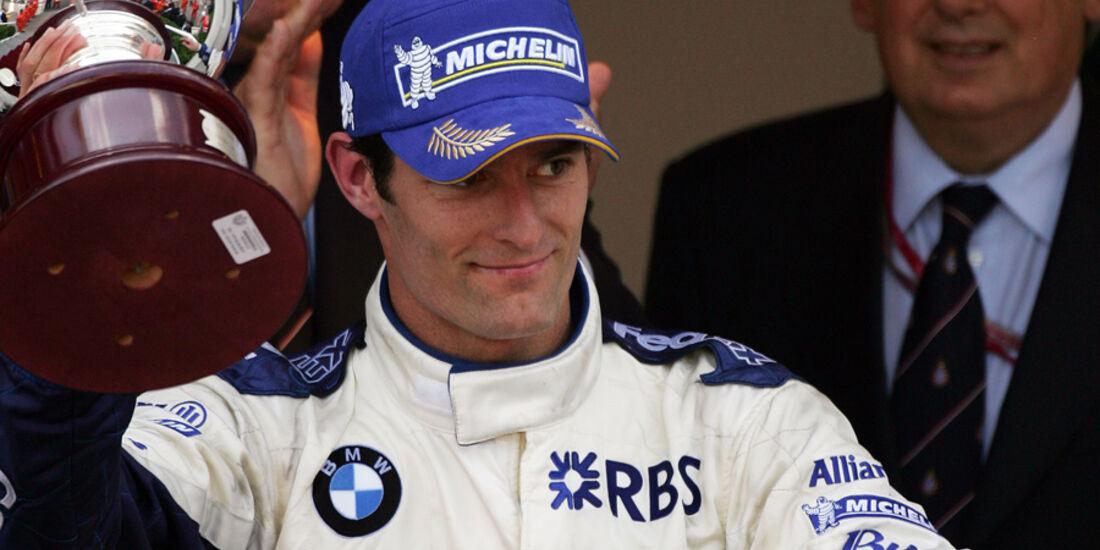 Mark Webber 2005 BMW Williams GP Monaco Podium