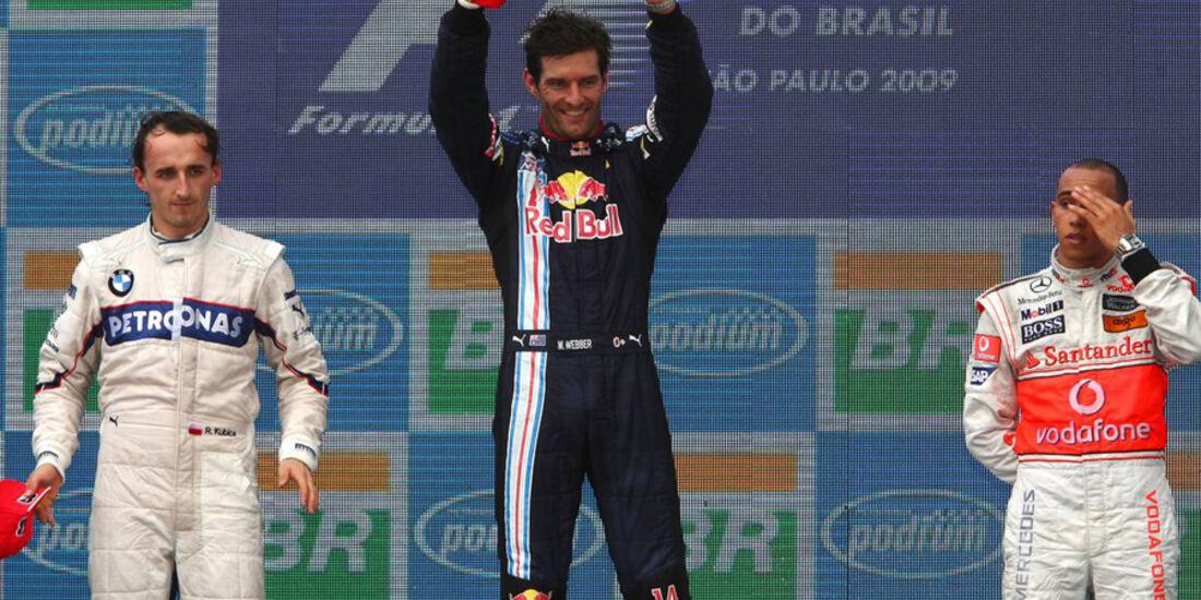 Mark Webber 2009 GP Brasilien