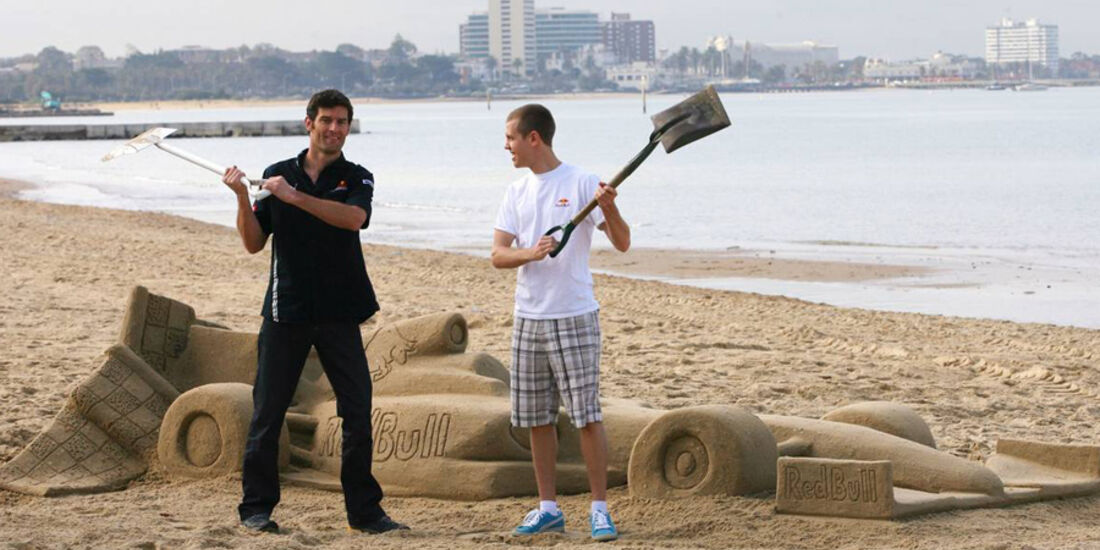 Mark Webber 2009 Vettel Red Bull GP Australien