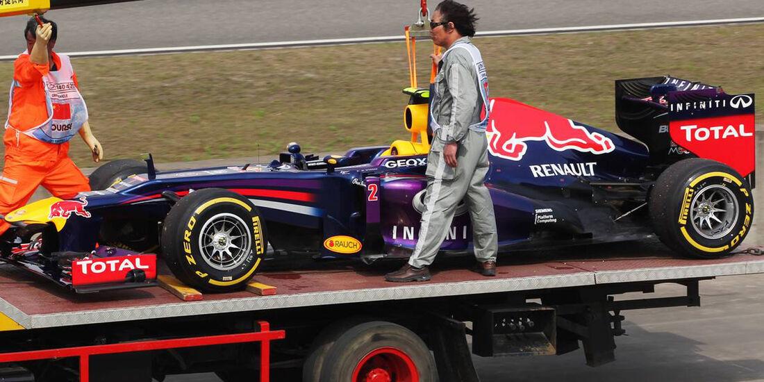 Mark Webber GP China 2013 Ausfall Qualifying