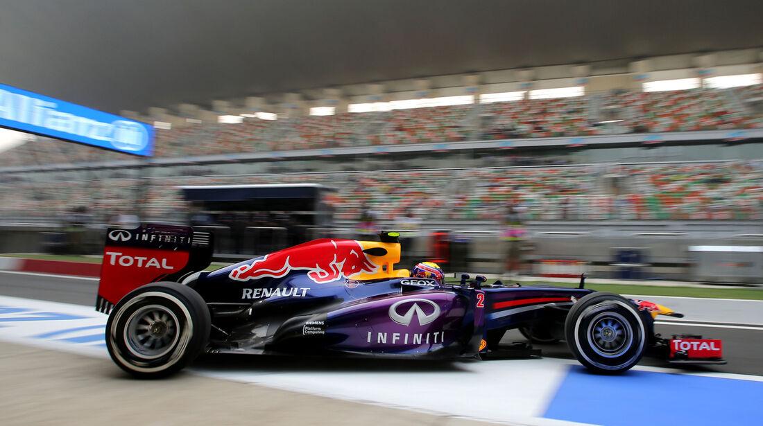 Mark Webber - Red Bull - Formel 1 - GP Indien - 25. Oktober 2013