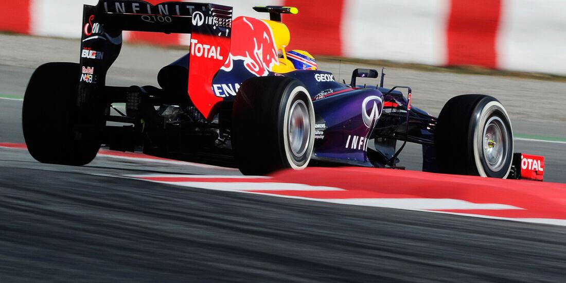 Mark Webber - Red Bull - Formel 1 - Test - Barcelona - 2. März 2013