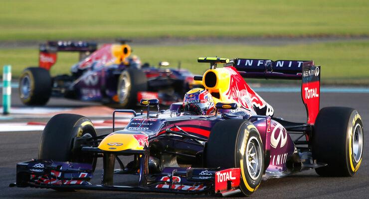Mark Webber & Sebastian Vettel - Red Bull - GP Abu Dhabi 2013