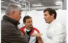 Mark Webber, Vorstand Wolfgang Hatz, Technikchef Alex Hitzinger
