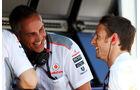 Martin Whitmarsh & Jenson Button - McLaren - Formel 1 - GP Ungarn - 26. Juli 2013