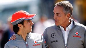 Martin Whitmarsh & Sergio Perez - McLaren - 2013