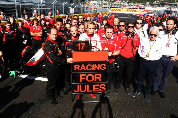 Marussia - Jules Bianchi-Tribute - 2014