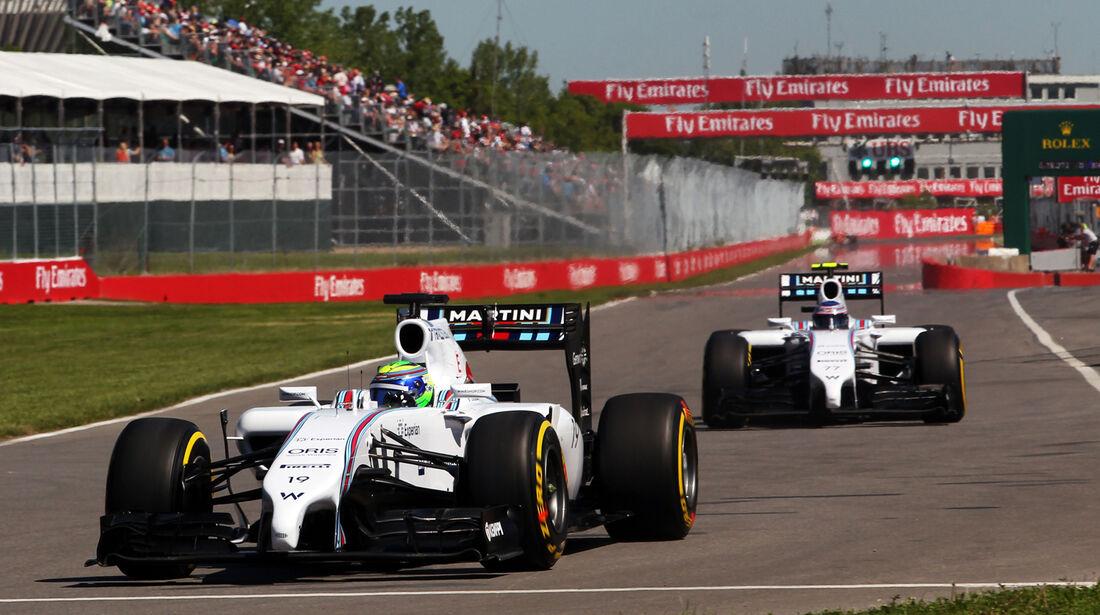 Massa & Bottas - Williams - Formel 1 - GP Kanada - Montreal - 7. Juni 2014