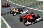 Massa, Hülkenberg & Hamilton - Formel 1 - GP Brasilien - Sao Paulo - 23. November 2012
