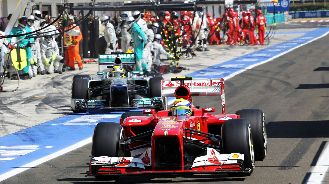 Massa & Rosberg - Formel 1 - GP Ungarn 2013