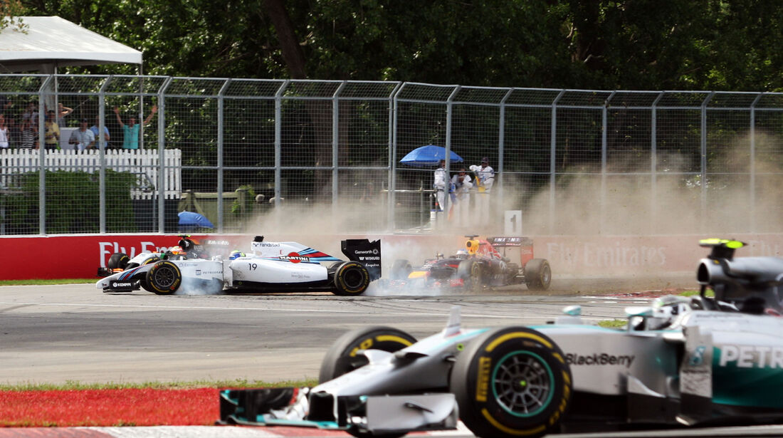 Massa vs. Perez - GP Kanada - Crashs 2014
