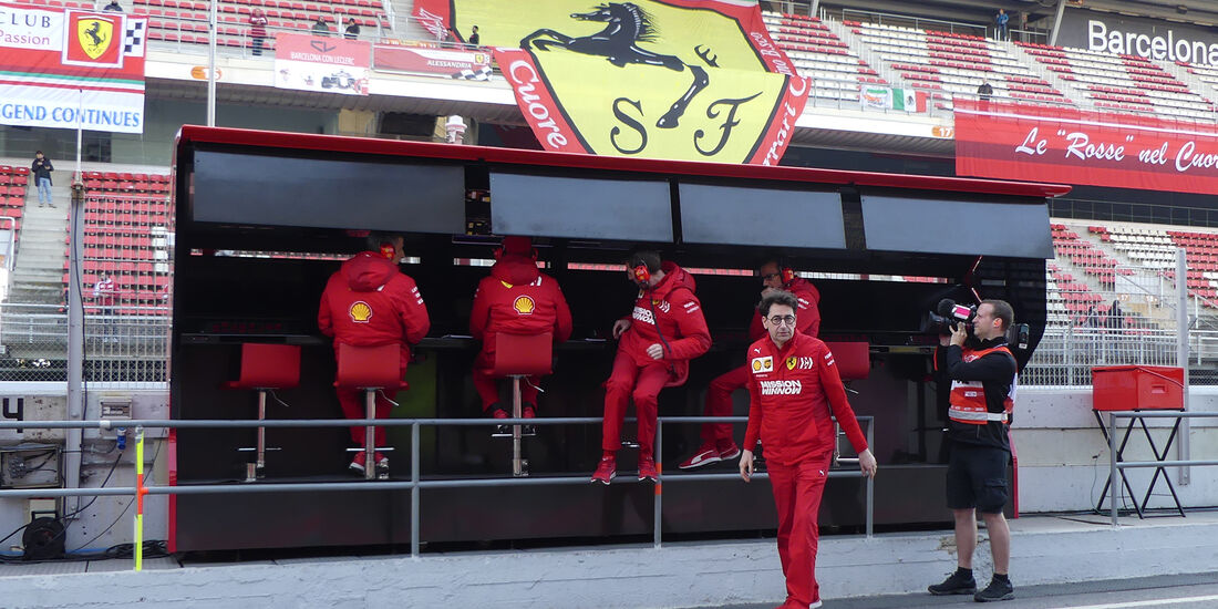 Mattia Binotto - Ferrari - Barcelona - F1-Test - 27. Februar 2019