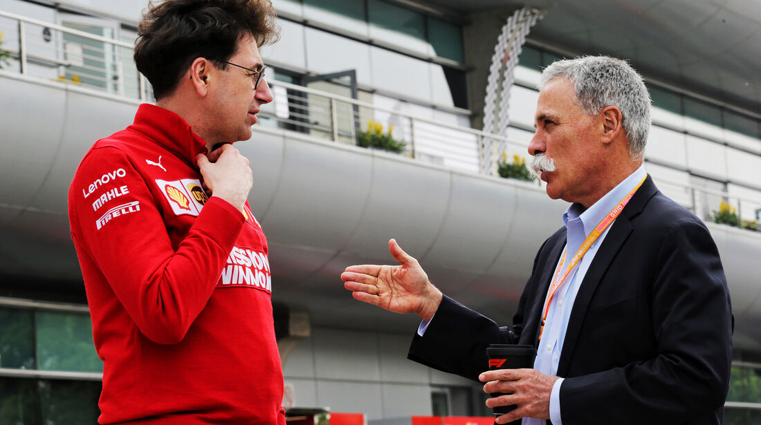 Mattia Binotto - Ferrari - Chase Carey - Liberty Media - GP China - Shanghai - Formel 1 - Freitag - 12.4.2019