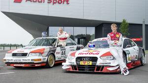 Mattias Ekström & Hans-Joachim Stuck - Audi DTM - Retro-Design - Norisring 2015