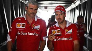 Maurizio Arrivabene & Sebastien Vettel - Ferrari - Formel 1 - GP Monaco - 27. Mai 2016