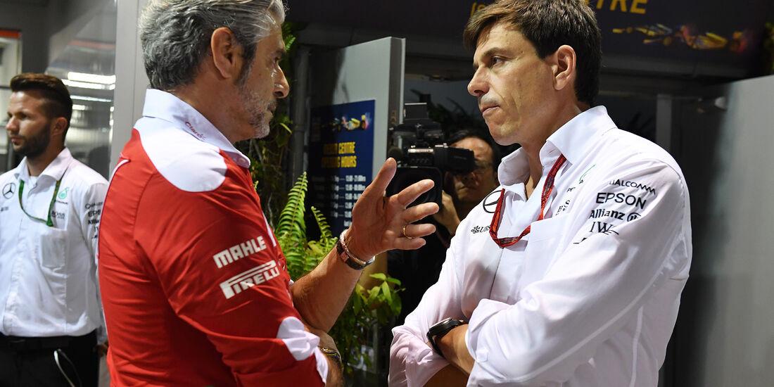 Maurizio Arrivabene & Toto Wolff - Formel 1 - GP Singapur - 16. September 2016
