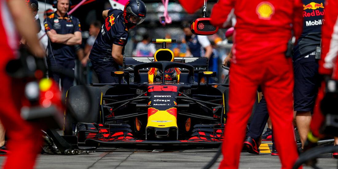 Max Verstappen - Boxenstopp - F1 - 2018