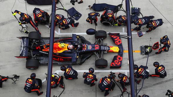Max Verstappen - Boxenstopp - GP China 2019