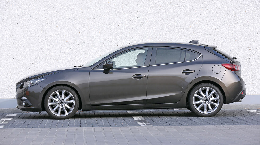 Mazda 3 Skyactiv G 165, Seitenansicht