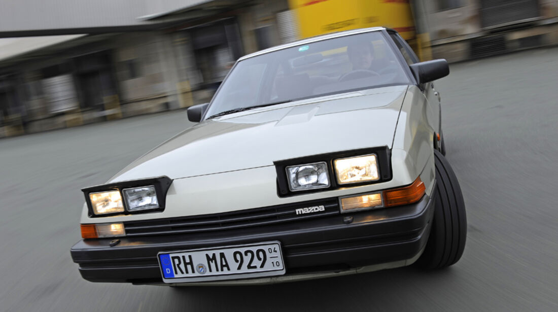 Mazda 929 Coupe, Front, Frontlichter, Detail