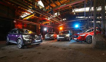Mazda CX-5 D 175 AWD Sports-Line, Peugeot 5008 BlueHdi 180 GT, Renault Koleos dCi 175 4WD Initiale Paris, Skoda Kodiaq 2.0 TDI 4x4 Style, Exterieur