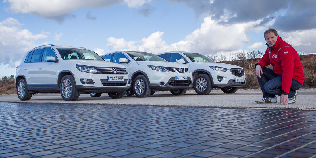 Mazda CX-5, Nissan Qashqai, VW Tiguan, Michael von Maydell
