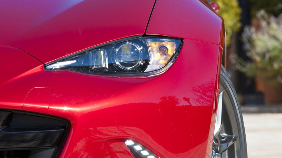 Mazda MX-5, ams, Fahrbericht, Scheinwerfer