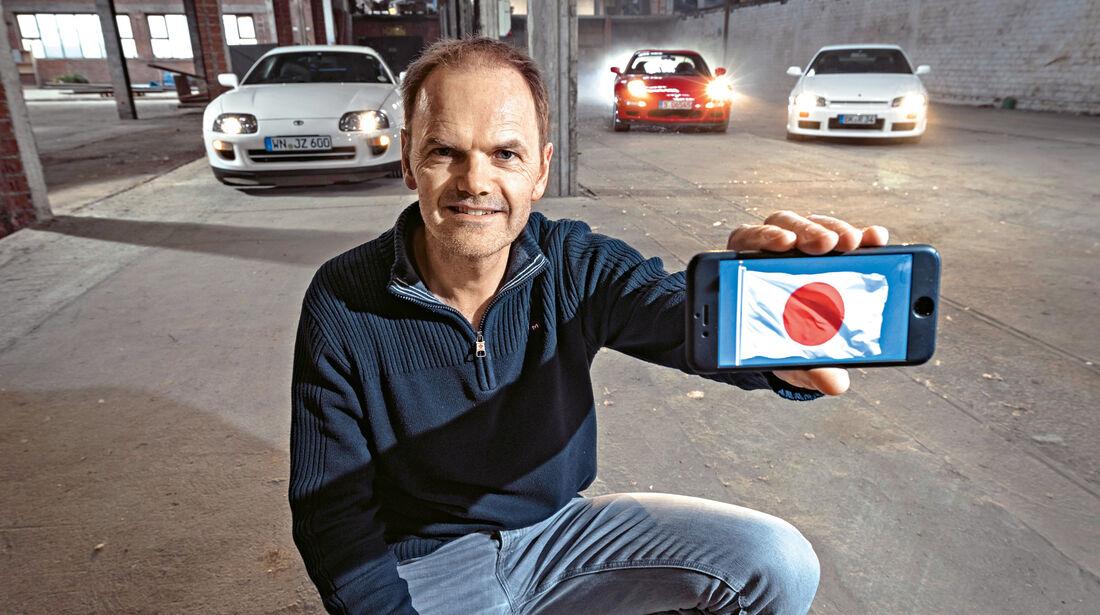 Mazda RX-7, Nissan Skyline, Toyota Supra,