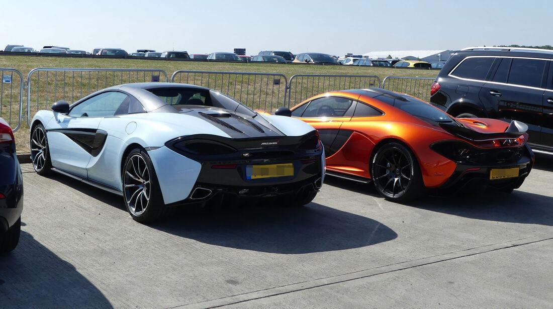 McLaren 570S - McLaren P1 - Fahrerautos - GP England 2018 - Silverstone
