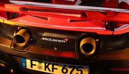 McLaren 675LT, Endrohre