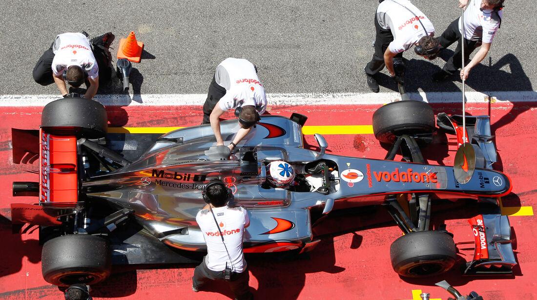 McLaren Boxenstopp Mugello Test 2012