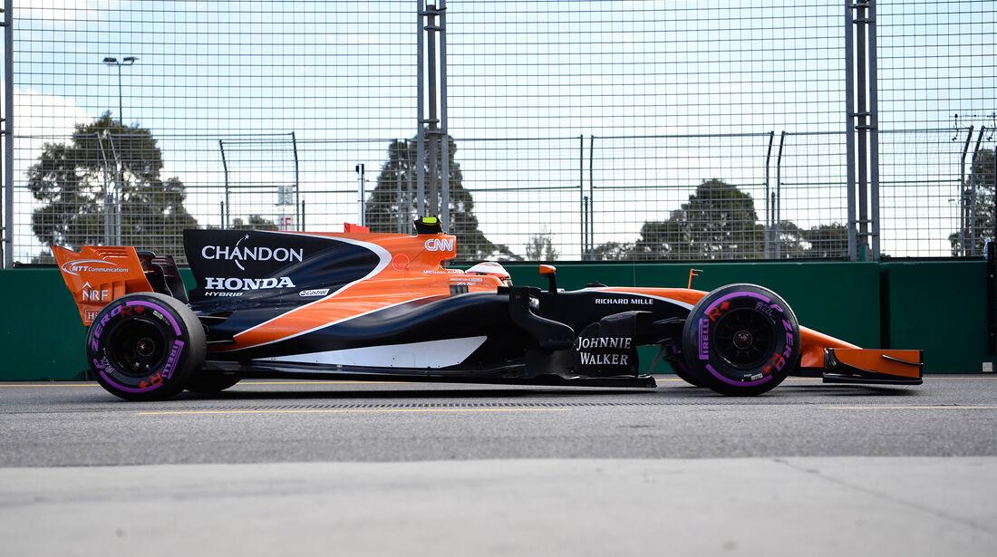 McLaren - F1-Abmessungen - 07/2017
