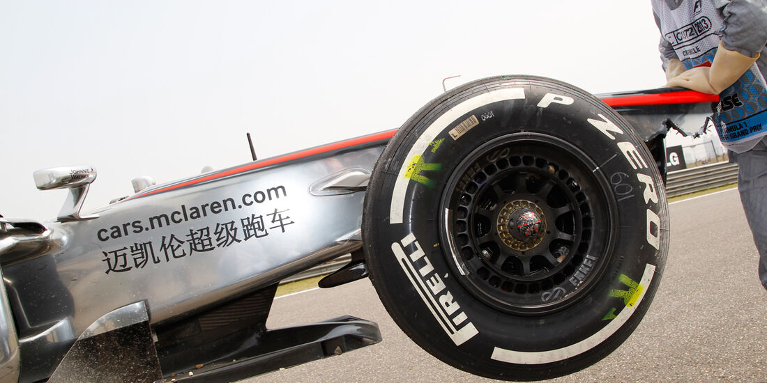 McLaren GP China 2013 Pirelli-Reifen