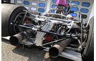 McLaren M8F, ohne Chassis, Auspuffanlage