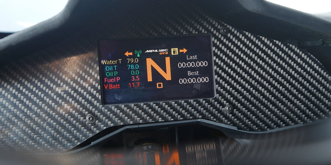McLaren MP4-12C GT3, Display, Monitor