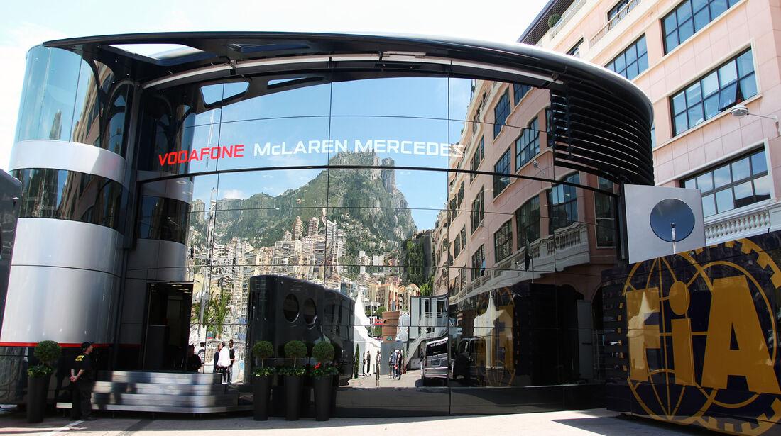 McLaren-Motorhome - GP Monaco - 23. Mai 2012