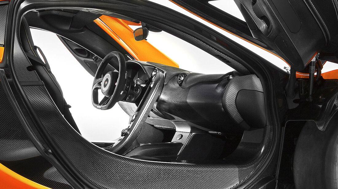 McLaren P1, Innenraum, Cockpit