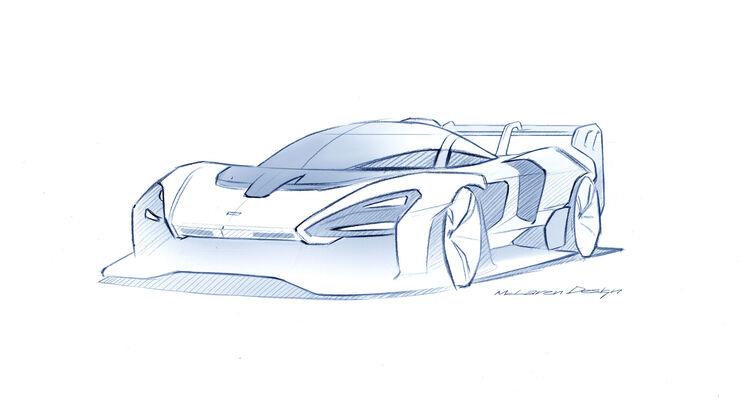 McLaren Senna GTR - Designskizze - Hypercar