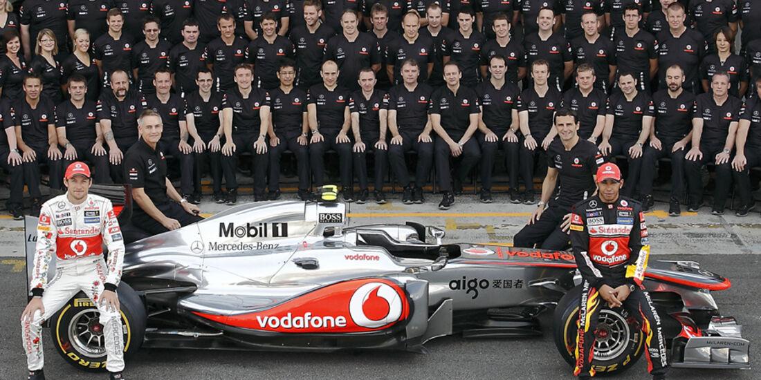 McLaren Teamfoto 2011