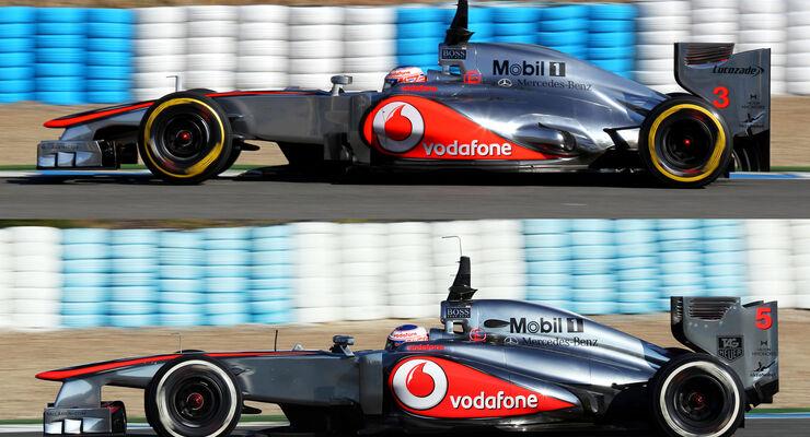McLaren Vergleich MP4-28 2013