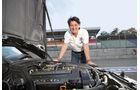 Mercedes 190 E 2.5-16 EVO II, Ellen Lohr, Motorraum, Motorhaube, Deteil