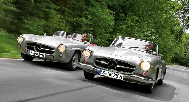 mercedes 190 sl und 190 slr sportlicher bruder des 190 sl. Black Bedroom Furniture Sets. Home Design Ideas