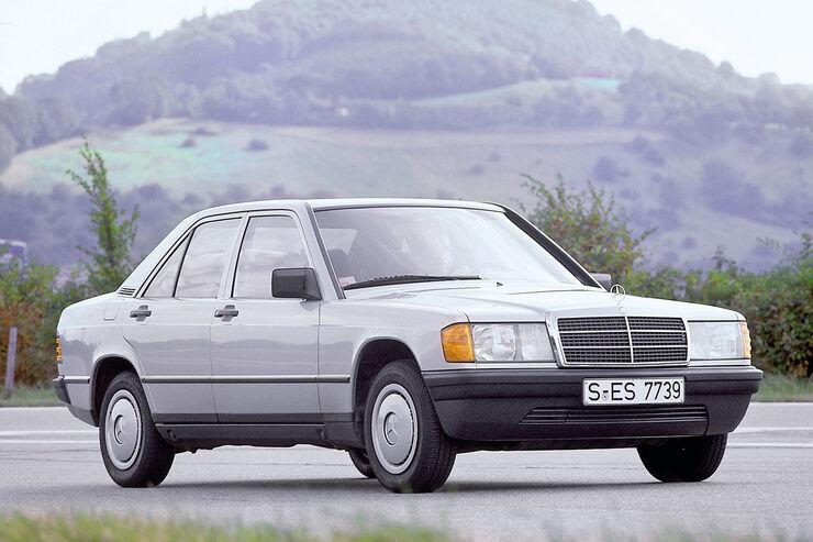 Mercedes 190, Seitenansicht